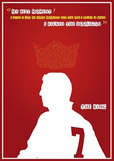 The King  Tribute Poster to Eric Cantona  #digital #art #sport #poster #illustration #legends #sportmen #quote #typo #typography #artwork #digitalart #graphisme #PAO #deco #affiche #flyer #eric #the_king #king #canto #cantona #7 #France #soccer #football #Manchester #United #ManU #England