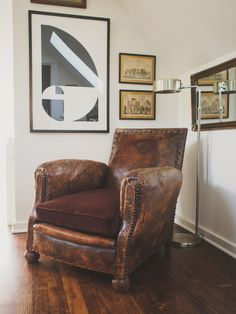 Love this old leather chair