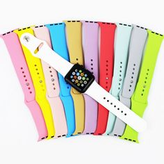 Silicone Band for Apple Watch 23 Cute Apple Watch Bands, Apple Watch Silicone Band, Apple Band, Rose Gold Apple Watch, Silicone Iphone Cases, Apple Watch Accessories, Apple Products, Apple Watch Series, Apple Iphone