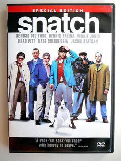 Snatch Movie DVD:Special Edition BRAD PITT del Toro Jason Statham 2-Disc Box Set