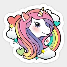 Shop Magical Rainbow Unicorn unicorn stickers designed by LuxCups as well as other unicorn merchandise at TeePublic. Unicorn Drawing, Unicorn Art, Cute Unicorn, Rainbow Unicorn, Unicorn T Shirt, Unicorn Outfit, Unicorn Merchandise, Unicorn Poster, Unicorn Illustration