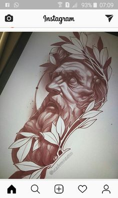 Zeus Tattoo, Statue Tattoo, Posseidon Tattoo, Body Art Tattoos, Tattoo Design Drawings, Tattoo Sleeve Designs, Tattoo Sketches, Sleeve Tattoos, Art Drawings
