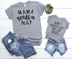 Mama Needs a Nap Set - Mother Son Matching Shirts - Mom and Daughter Matching Shirts - Mom and Baby Boy Matching - Mother Son T Shirts - Best Baby Clothes Mommy And Me Shirt, Mommy And Son, Mom And Baby, Mom And Me, Mama Shirt, Mom Son, Baby Outfits, Mommy And Me Outfits, Family Outfits