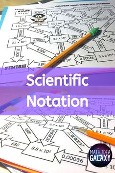 Looking for an engaging way for students to practice converting scientific notation? These 3 mazes give students a little extra challenge while getting the math practice they need! Check out this great alternative to scientific notation worksheets! Math Teacher, Math Classroom, Maths, Simplifying Expressions, Scientific Notation, Math Practices, Math Concepts, Common Core Math, Math Games