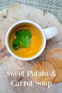 Lightly Spiced Sweet Potato and Carrot Soup. A creamy soup with the ...
