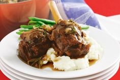 Sweet plum jam gives these succulent lamb shanks an extra taste dimension.
