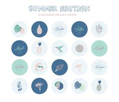 Instagram Frame, Free Instagram, Instagram Story, Printable Stickers, Cute Stickers, Summer Icon, Phone Themes, Good Notes, Journal Stickers