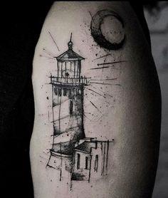 Kamil Mokot lighthouse tattoo