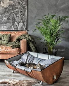 Memes, , and pet: upcycled pet bed from an oil barrel upcycled table dog bed, upcycled pet bed from an oil barrel meme on meme. New Swedish Design, Cat Room, Pet Furniture, Industrial Dog Beds, Cheap Furniture, Industrial Style, Furniture Ideas, Furniture Market, Handmade Home Decor