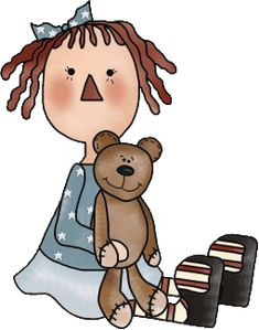 Raggedy Ann Country Crafts, Country Art, Country Primitive, Diy Rag Dolls, Raggy Dolls, Anni Downs, Raggedy Ann And Andy, Cute Clipart, Doll Crafts