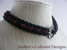Black and Red Raven's Braid BDSM Gorean Slave by aislinnscollared