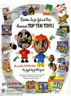 Mr Potato Head & other Hasbro Toys (1953) - Click Americana