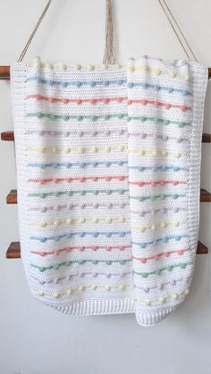 Crochet baby blanket for sale Polka dot blanket/Rainbow blanket/Knit Baby blanket/Stripe Afghan/Stroller bubble blanket/Baby show Knitted Baby Blankets, Baby Blanket Crochet, Crochet Baby, Afghan Crochet, Baby Toys, Bubble Blanket, Lap Blanket, Chevron Blanket, Blankets For Sale