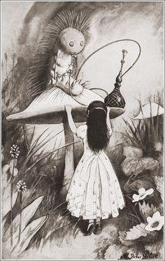 """Иллюстратор Peter Newell.Сказка Л.Кэрролла """"Алиса в стране чудес"""".Автор Льюис Кэрролл.Страна США.Год издания 1901.Издательство Harper & Brothers....................................................."""