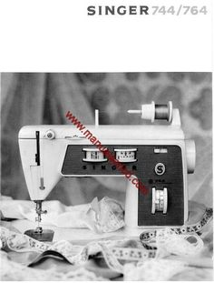 Singer 744 Touch & Sew Sewing Machine Instruction Manual.  De Luxe Zig-Zag  Examples of what's included in this manual:  * Threading machine. * Winding bobbin. * Selecting correct needle and thread. * Basic stitches. * Decorative sewing. * Accessories.  44 page manual.