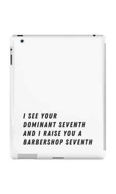Raise you a Barbershop Seventh by Stacey Rose