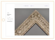 Web design for legendary London framing company Bourlet by Richard Chapman Studio