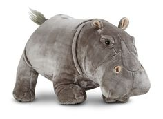 Hippopotamus Lifelike Stuffed Animal | Toys for 5-7 year olds | Melissa and Doug