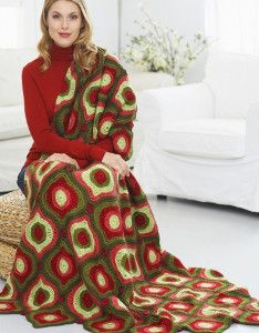 There& nothing better than an old-fashioned Christmas crochet blanket to keep you warm during the holidays. The Victorian Ornaments Afghan will do just that, and add a festive vintage flair to your home. Granny Squares, Crochet Squares, Christmas Crochet Blanket, Holiday Crochet, Christmas Afghan, Christmas Knitting, Christmas Ornament, Afghan Crochet Patterns, Crochet Afghans