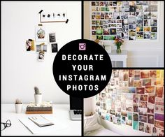 How to decorate your Instagram photos  #instagram #diy #decoration #prints #printl Photo Wall, Diy, Instagram, Frame, Creative, Prints, Inspiration, Home Decor, Picture Frame