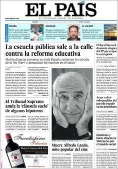 Los Titulares y Portadas de Noticias Destacadas Españolas del 10 de Mayo de 2013 del Diario El País ¿Que le parecio esta Portada de este Diario Español?