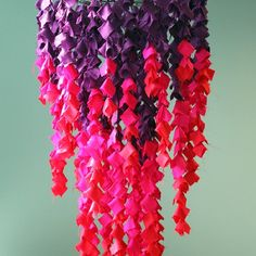 Learn how to make this DIY ombre scarf chandelier for your next party or decoration.