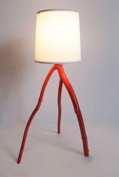 handmade lamps by Meghan Finkel--kinda like a tree branch