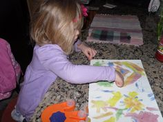 Crayola Wonder Color finger paints keep even the little buyers busy.  Agents: pack mess free activities to play while Mom and Dad look at listed homes.