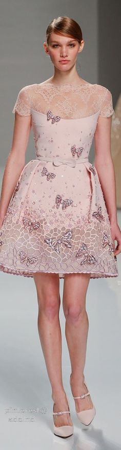 Georges Hobeika Spring 2015 Couture This is so feminine and girly