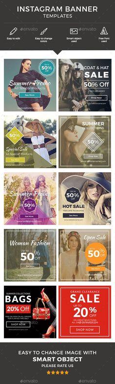 Instagram Banner Template PSD