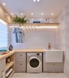 37 Beautiful Small Laundry Room Makeover Ideas - Its one of the most used rooms in the house but it never gets a makeover. What room is it? The laundry room. Almost every home has a laundry room and . Laundry Room Makeover, Room Design, Laundry Room Lighting, Room Makeover, Laundry Room Layouts, Room Remodeling, Room Storage Diy, Laundry Room Design, Hanging Clothes