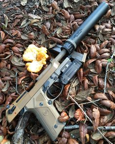 Beretta M9A3 handgun with Liberty Mystic suppressor & DBAL laser @hankstrange