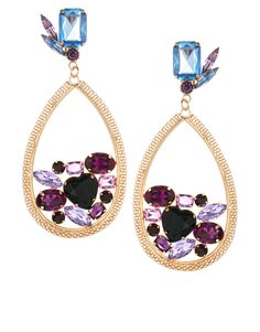 ASOS Jewel Disc Drop Earrings, $ 25.43