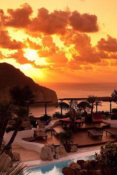 Eden Lounge, Ibiza sunset viewing lounge at the Hacienda Na Xamena