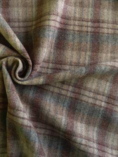 "BJC4907 Shetland Wool Double Plaid Ecru, Dark Jute, Cocoa Brown 59"" Wide @Judith de Munck Hickman Mart"