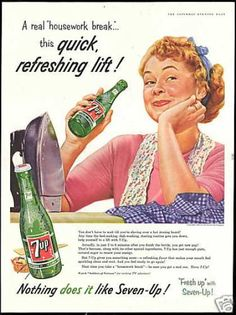 Woman Housework Iron 7up 7 up Seven-up (1956)