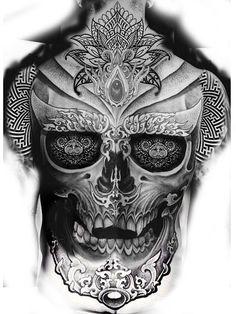 Rücken tattoos tattoos, back tattoo и sleeve tattoos Skull Tattoos, Black Tattoos, Body Art Tattoos, Sleeve Tattoos, Cool Back Tattoos, Back Tattoos For Guys, Back Piece Tattoo Men, Tattoo Sketches, Tattoo Drawings