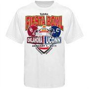 UCONN Huskies vs. Oklahoma Sooners Youth White 2011 Fiesta Bowl Dueling T-shirt