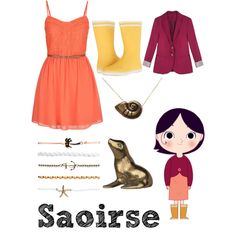 Saoirse from Song of the Sea by krusi611 on Polyvore featuring maurices, Aigle, Wet Seal and Disney
