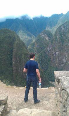 Rand at Machu Picchu, Peru, looking over the ruins