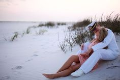 Military engagement beach shot by Amber Davis Photography!