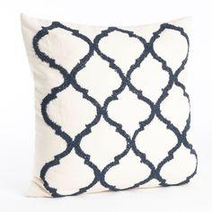 Moroccan Beaded Cotton Throw Pillow