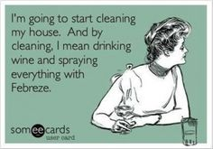 funny wine quotes, cleaning my house