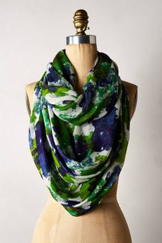 Spring Strokes Infinity Scarf - anthropologie.com $68