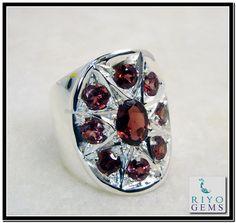 Garnet Silver Ring http://www.riyogems.com