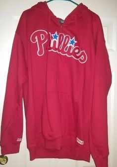 Stitches NWOT Unisex Red Philadelphia Phillies Zipper Sweat Jacket Size XL #Stitches #PhiladelphiaPhillies