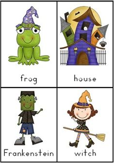 Halloween Vocabulary Cards with Record Sheet - 7 pages $