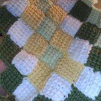 Crocheting: Tunisian Entrelac Baby Blanket