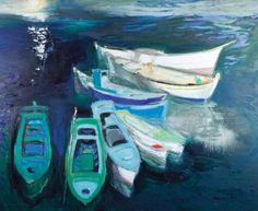 Panayiotis Tetsis #art #boat #greece