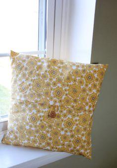 18x18 ORGANIC Mumsy in Dawn Pillow Cover by KelsCozyCorner on Etsy, $27.00